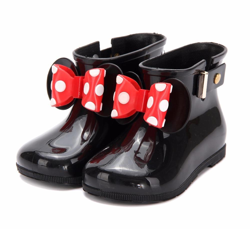 a2556d480eea78 Mini Melissa 3 Cor Botas de Chuva 2019 Nova Anti-Skid Geléia Botas de Chuva  Meninos Meninas Melissa Sapatos Geléia Sapatos de Água Do Bebê