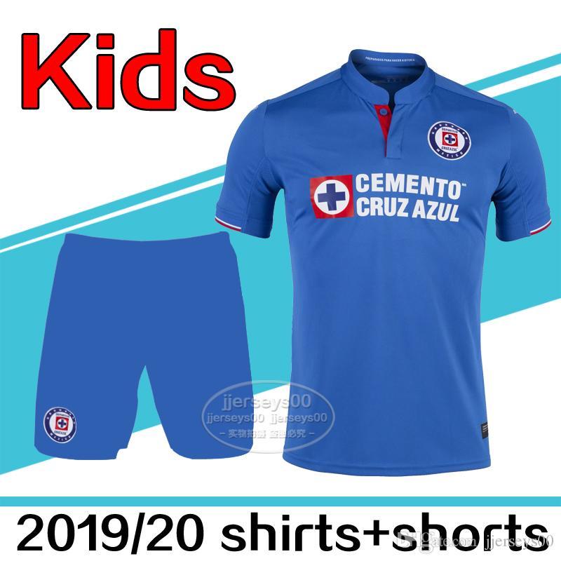 cade077aab4 2019 Good Quality 2019 2020 Liga MX Cruz Azul Kids Soccer Jersey Kit  Outdoor T Shirts Cruz Azul 19 20 Child Kids Shirts Outdoor T Shirts From  Jjerseys00, ...