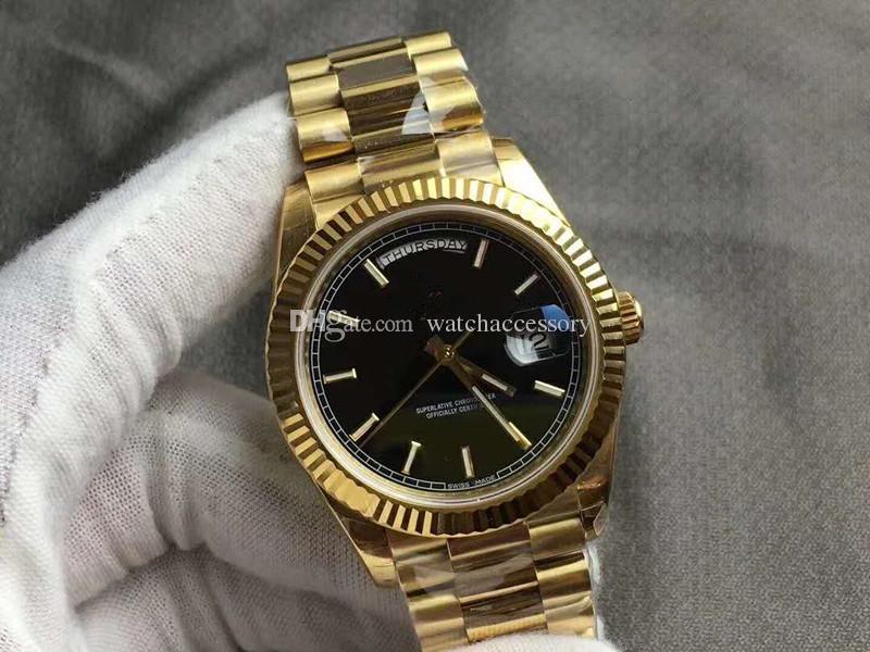 1ef15b7ae661 Compre 2019 Moda Nuevos Relojes De Lujo Para Hombre Reloj De Pulsera Para  Hombres Reloj Dorado Automático De Acero Inoxidable De Oro Dorado Solo.