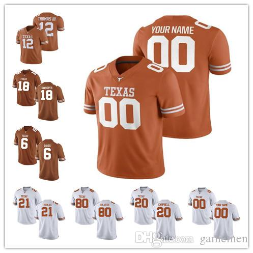 super cute efa93 27b18 Custom Texas Longhorns College Football jersey Mens Women Youth  Personalized Stitched Any Name Number stitched 5 Tre Watson Jerseys