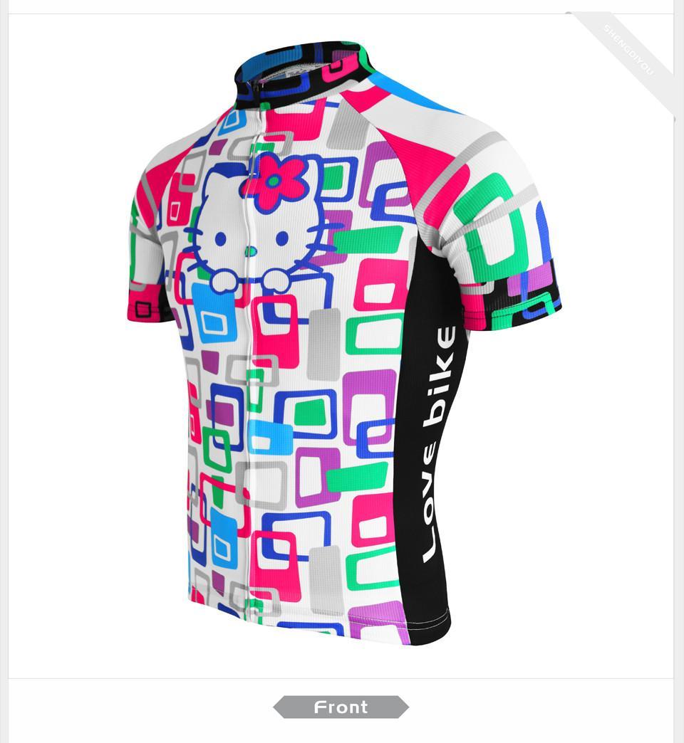 4e235d366c 2017 NUEVA Camiseta Ciclista Para Mujer Blackwhite Ropa Ciclismo Camisa De Manga  Corta Top Ropa Bicicleta Sportwear Ciclismo Por Hupiju