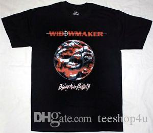 WIDOWMAKER BLOOD AND BULLETS BLAO-Neck CAMISETA TWISTED HERMANA DESPERADO