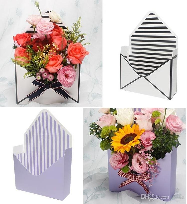 Mini Creative Envelope Fold Flower Box Rose Decoration Gift Box Flower Packing Boxes For Home Party Wedding