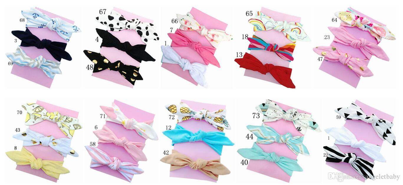 20pcs girl baby headwear cotton Turban Twist Hair band Head wrap Twisted Knot Soft stripe Headband Polka dot Headwrap accessories FD6554