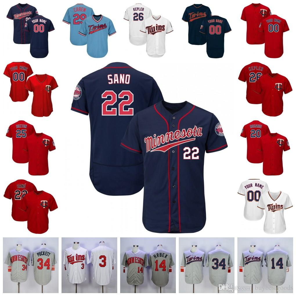 88df17a00ff 2019 Minnesota Max Kepler Jersey Twins Byron Buxton Eddie Rosario Miguel  Sano Kepler Berrios Carew Hrbek Dozier Cruz Gonzalez Men Women Youth From  ...