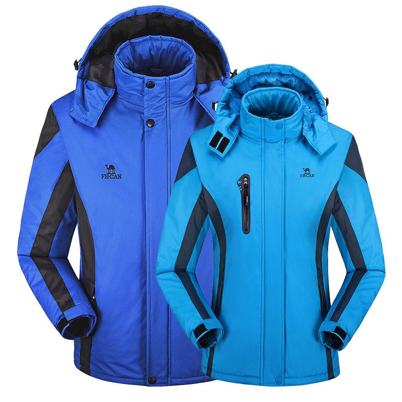 Couple Models Outdoor Jackets Men Winter Fleece Thermal Mountain Travel Clothes Waterproof Trekking Cycling Skiing Women Jackets