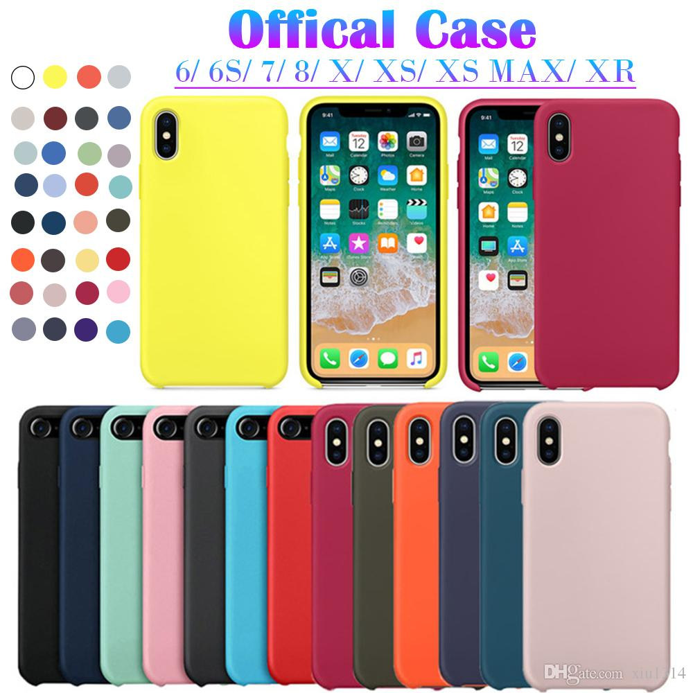 88509fb2328 Have LOGO Original Official Silicone Case For IPhone X XS Max XR 6 6S 7 8  Plus For Samsung S10 Plus S9 Note9 8 Cover Funda With Retail Box Leather  Cell ...