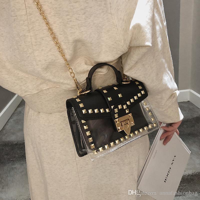 2018 nouveaux sacs à main de luxe en cuir bicolore femmes sac sac à bandoulière chaud messenger sac à main designer Vintage sacs à rivets Bolsa