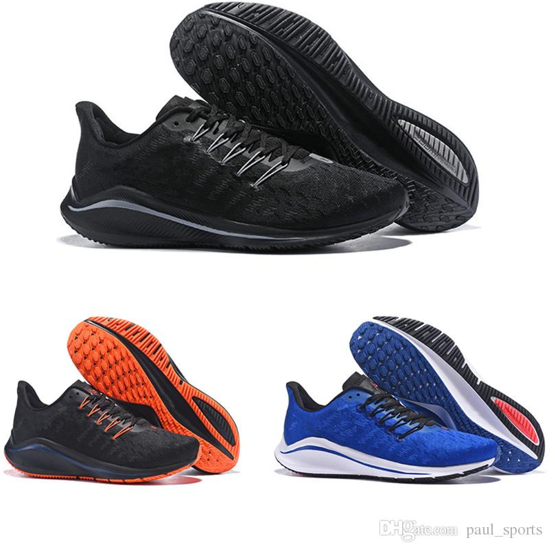 new arrival b5919 22ed9 2018 New Arrival Fashion Vomero 14 Black Blue Orange V14 Running Shoes for  High quality 14s Mens Trainers Classic Sports Sneakers Size 40-45