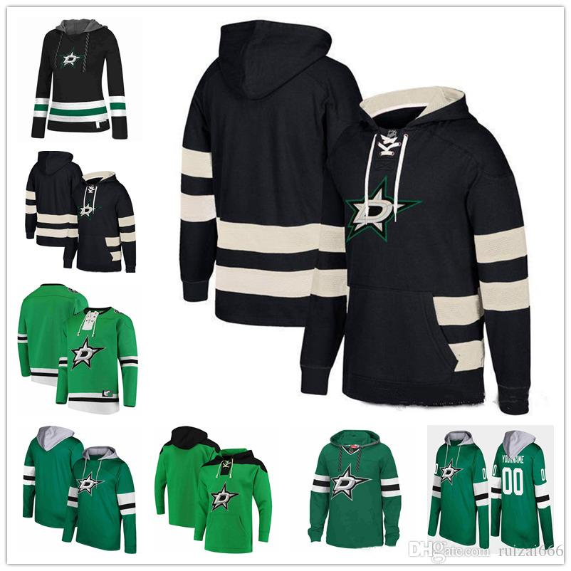 buy popular 6356a 99976 Custom Dallas Stars hoodie jerseys Tyler Seguin Patrick Sharp Jamie Benn  Jason Spezza John Klingberg John Klingberg Hooded Hockey Sweatshirt