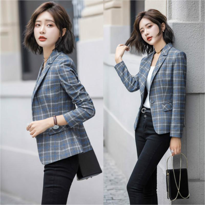 43491d90bbd2d Plaid suit suit female spring and autumn 2019 New Korean ladies fashion  Slim trousers casual two-piece set Women clothes Suits