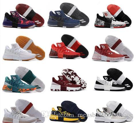 2019 D Lillard 3 Low Mens Basketball Shoes Top Quality Damian Lillard 3 III  PE BHM Training Sports Sneakers Size US7 US12 With Box Basketball Shoes For  Sale ... 90b2d46ce5