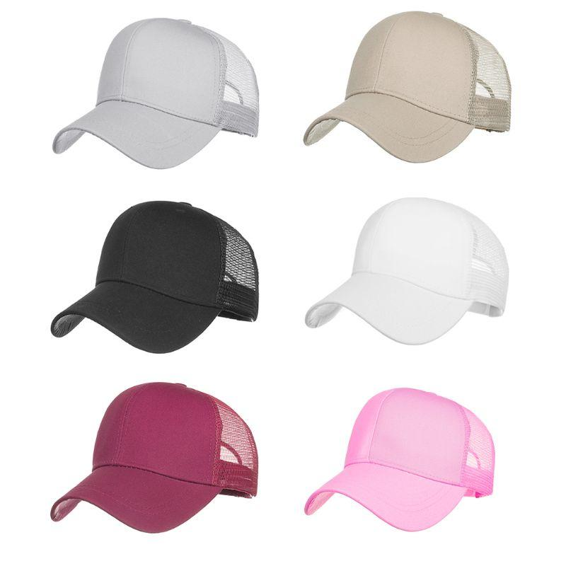 78ea548ab0466 2019 Outdoor Sunshade Ponytail Baseball Cap Women Messy Bun Tennis Hat  Adjustable Cap From Cbaoyu