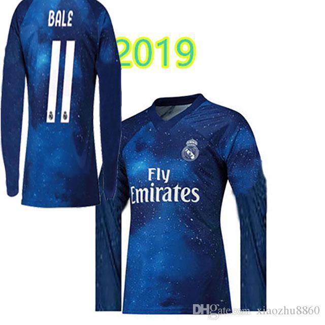 ef65a1e1 S 2XL Real Madrid 18 19 EA Sports Digital INSANE Manga Larga SOCCER JERSEY  ISCO 2018 2019 Bala MARCELO Especial Camisetas De Fútbol Sobresalientes Por  ...