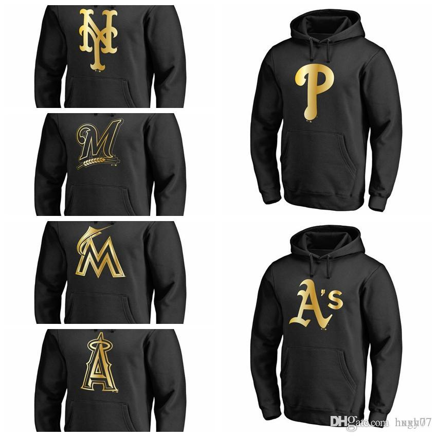 best website e461e 467c0 Philadelphia Phillies Oakland Athletics New York Mets Milwaukee Brewers  Miami Marlins Los Angeles of Anaheim Collection Pullover Hoodie