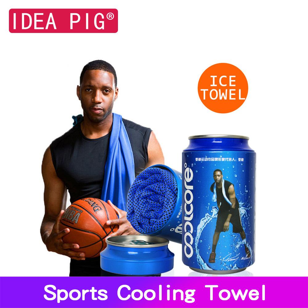 McGrady Face Towel Sport Icing Cold Towel Quicky-dry Instant Chilly Cooling Gym Fitness Excerise Bench Towel For Men Women