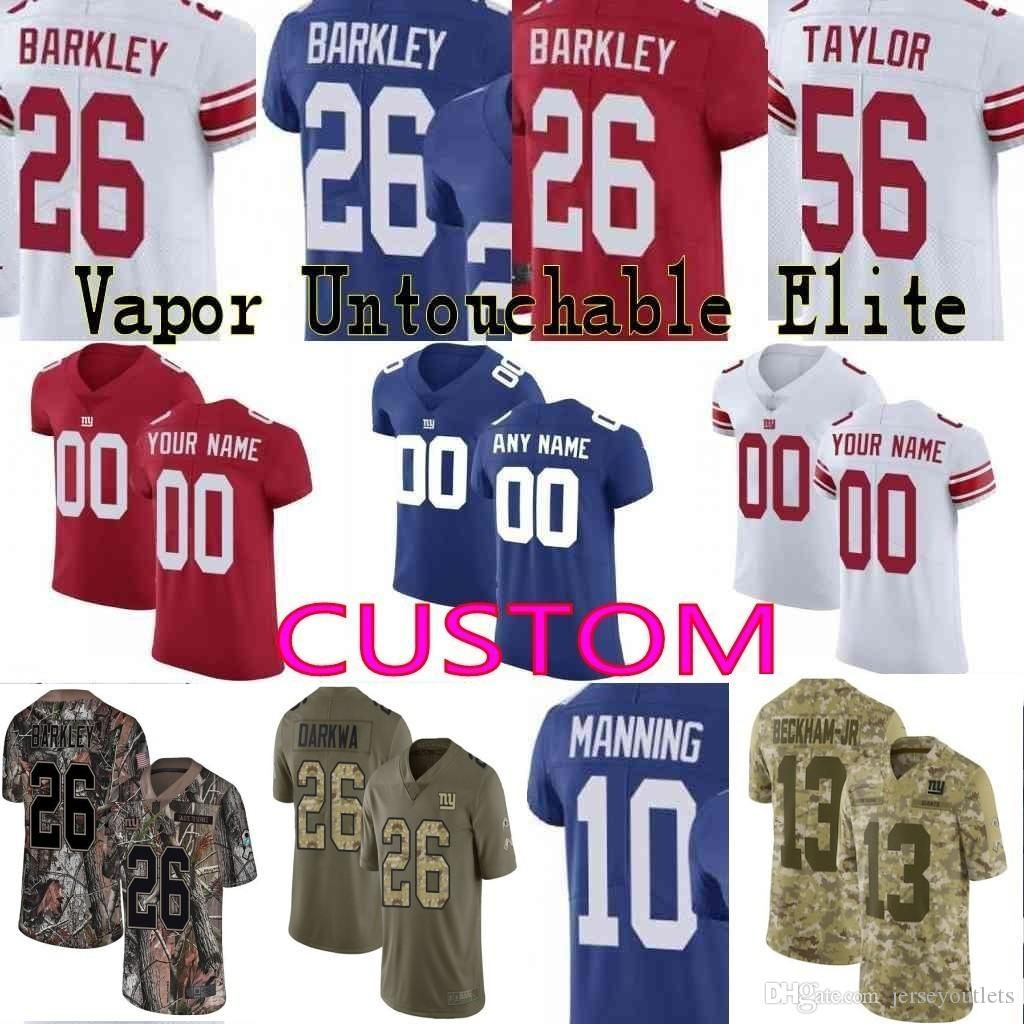 e27528d81 2018 Custom Men Youth Women New York Giants 26 Saquon Barkley Odell Beckham  Jr Eli Manning Lawrence Taylor Camo Salute To Service Elite Jersey 01 From  ...