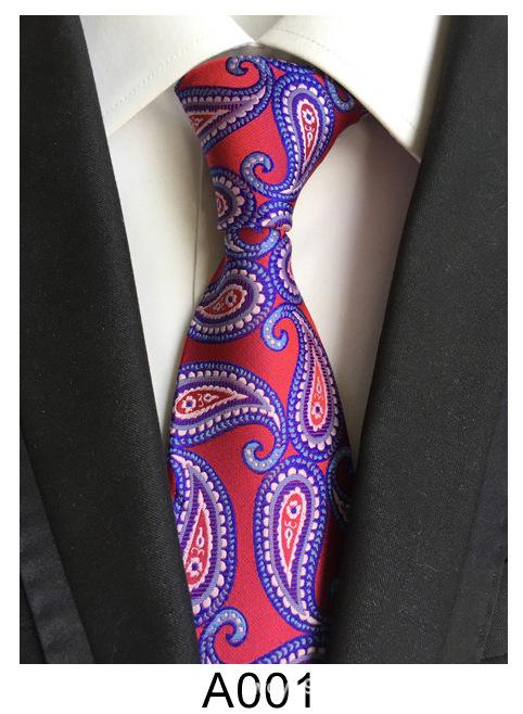 Source manufacturers wholesale polyester silk jacquard material dress business casual cashew flower men's tie 8cm 12 pcs