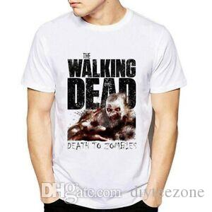 New Fashion Summer T-Shirts Men Boy The Walking Dead O-NeO-Neck Short-O-NeO-Neck-NeO-Neckved