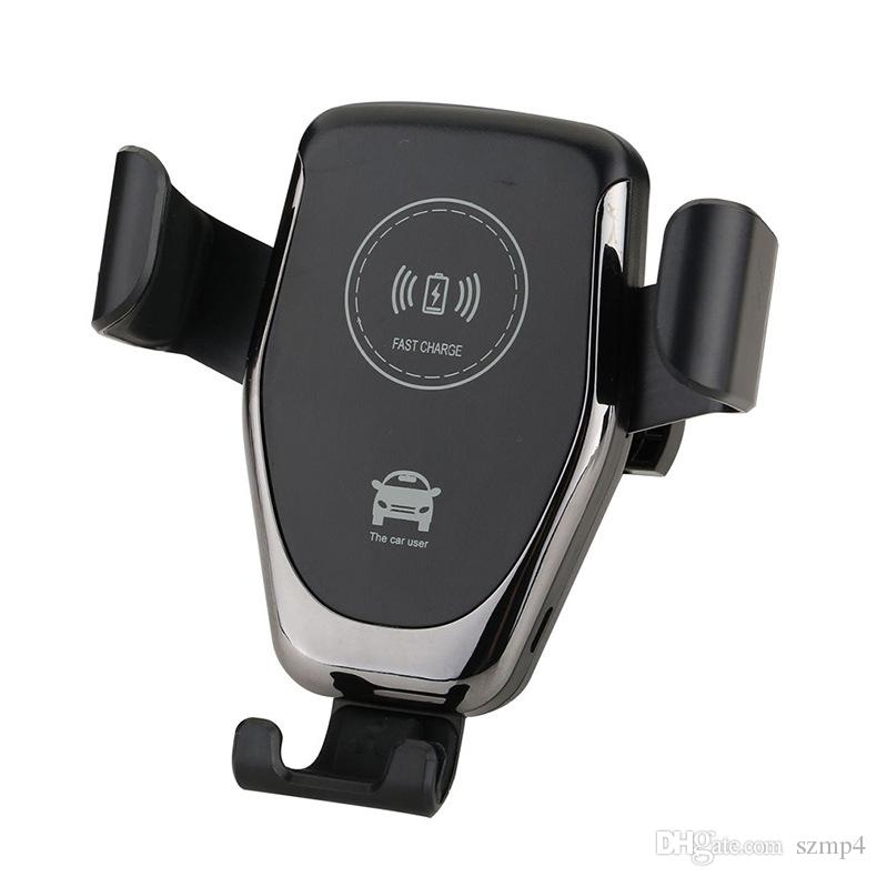 Car Mount Qi Wireless Charger For iPhone XS X XR 8 Fast Wireless Charging Car Phone Holder For Samsung Note 9 S9 S8