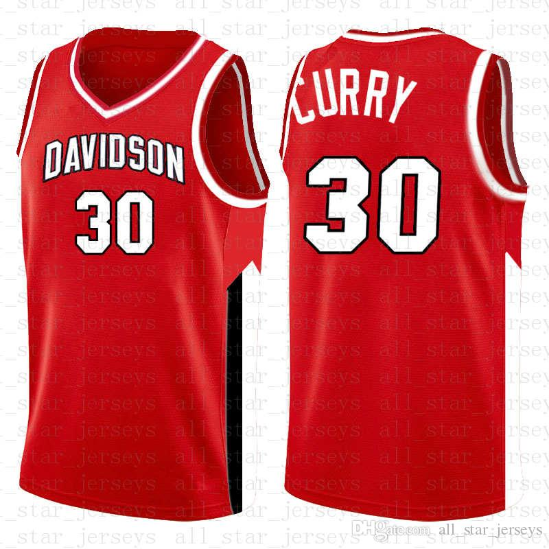 NCAA 30 HOMMES Stephen Davidson Wildcats Curry Jersey de Basketball College l College University TAILLE S-XXL HOMMES