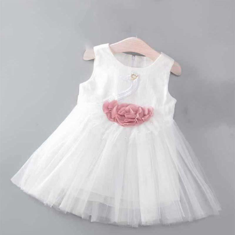 ec1cd405a04b3 2019 Good Quality Brand Girl Dress 2019 Summer New Children Girl Fashion  Cartoon Sleeveless Porm Dress Kids Girl Birthday Party Dresses From  Usefully12, ...