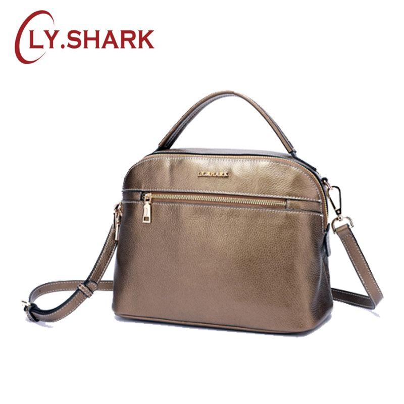 061ef2bdab4 LY.SHARK New Messenger Women Shoulder Bag Fashion Female Bag Ladies Genuine  Leather Crossbody Bags For Women 2018 Famous Brand