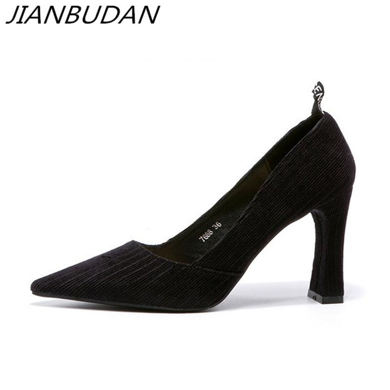 a50bd2fff66 Dress Jianbudan Pointed Toe Elegant Women S Banquet Pumps Shallow  Professional Office Shoes 9cm High Heel Sexy 2019 Spring Shoes 34 39  Leather Shoes ...