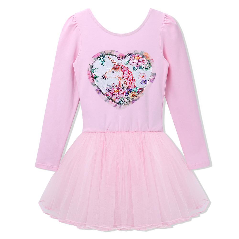 92a8be709a8c 2019 BAOHULU Ballerina Cotton Long Sleeve Tulle Dress Girls Sequined  Rotatable Unicorn Ballet Dance Gymnastics Leotards Dress Costume From  Lvyou09, ...