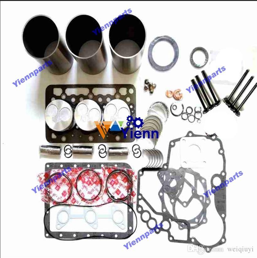 D722 Overhaul Rebuild Kit with valve kit for Kubota excavator loader diesel  engine repair spare parts
