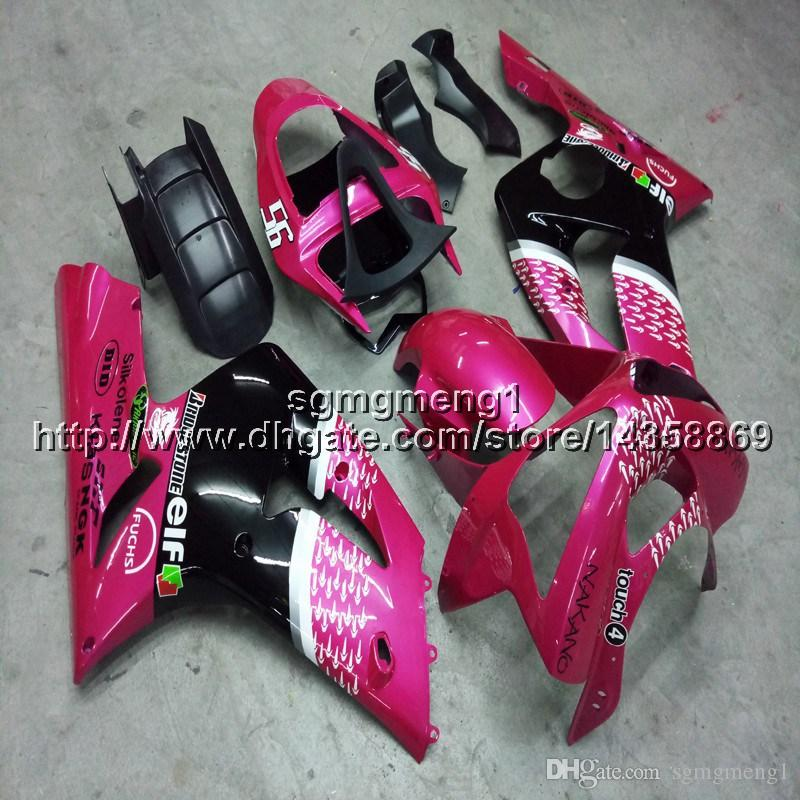 23colors+Botls Injection mold pink motorcycle cowl ZX6R 03-04 motorcycle cowl for kawasaki ZX-6R 2003-2004 ABS Plastic Fairing
