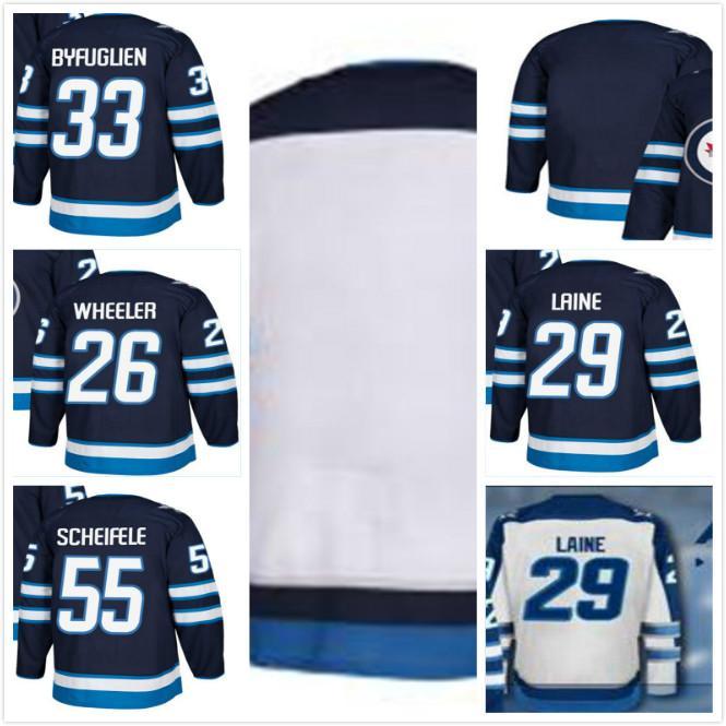 2a0dc2a9c88 2019 Winnipeg Jets 29 Patrik Laine Jersey 26 Blake Wheeler 33 Dustin ...
