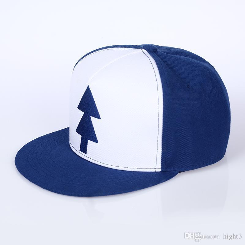 VORON Gravity Falls Baseball Cap BLUE PINE TREE Hat Cartoon Hip Hop Snapback  Cap New Curved Bill Dipper Adult Men Dad Hat Womens Baseball Hats Cheap ... 71e74f4f7136