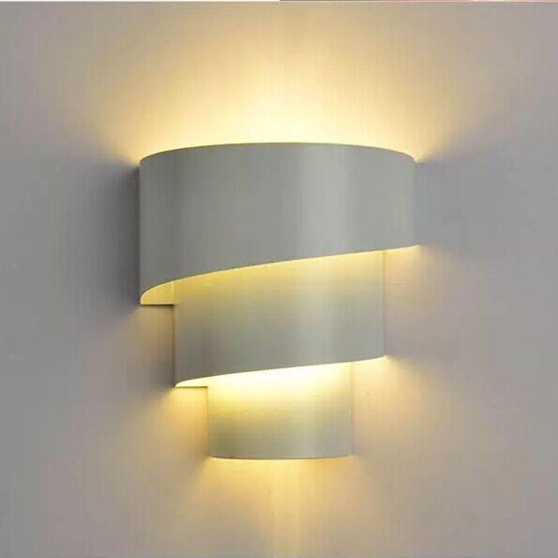 2019 Morden Brief Design Wall Lamps Multilayer Black White Lighting Led E27 220v Lights For Bedroom Sconce From Icauto 31 4 Dhgate Com