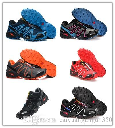 New Salomo Speed Cross 3 Sport Outdoor Men Shoes Zapatillas Speedcross CS Male Hombre Solomon Fencing Mens Running Shoes