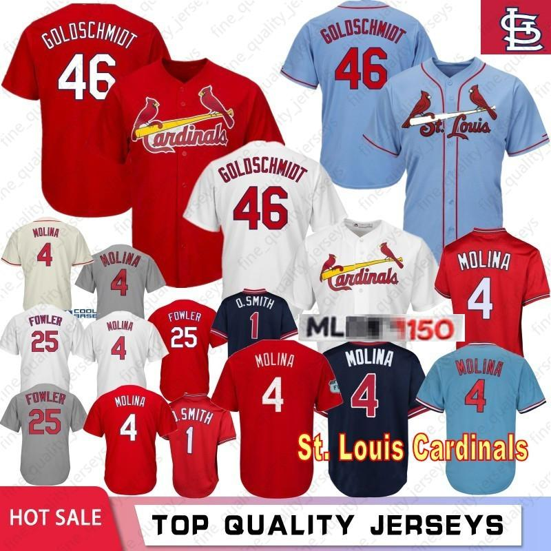 competitive price 45b9d 375bb 46 Paul Goldschmidt St. Louis Cardinals 150th Baseball Jersey 1 Ozzie Smith  4 Yadier Molina 25 Dexter Fowler Jerseys 100% Stitched