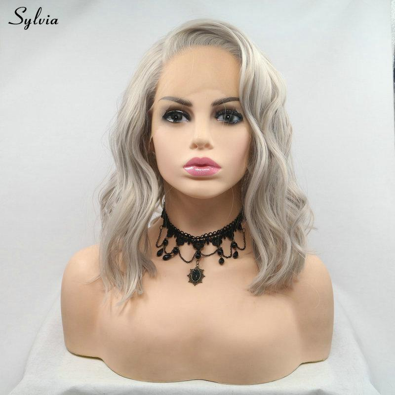 Synthetic None-lacewigs Sylvia Long Hair Water Wave Synthetic Lace Front Wigs Brown Ombre Blond Color Hair Natural Hairline For White Women Cosplay Hair Professional Design Synthetic Wigs