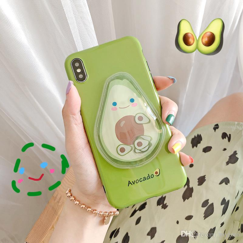 Mytoto New Stress Reliever Avocado Cute Summer Anti-knock TPU Phone Case para iPhone X XS XR XS Max 8 7 6 6S Plus Protección Contraportada