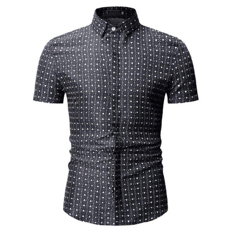 c2c1587c6 2019 2019 Summer New Men Shirt Fashion Plaid Printing Male Casual ...