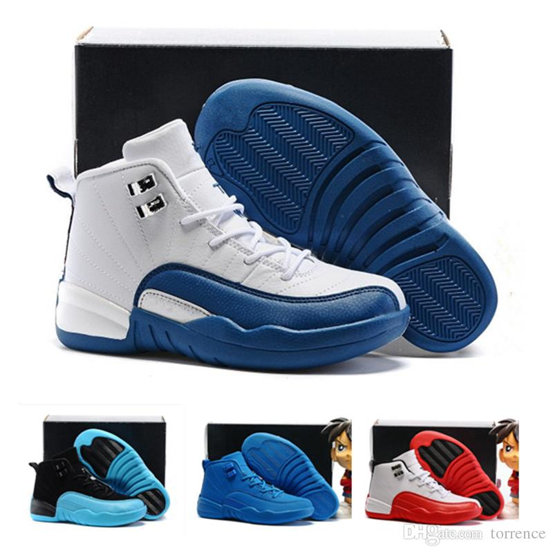 2019 Kids Shoes 12s Basketball Shoes Sneakers Boys Girls French Blue The  Master Taxi Children Sports Shoes Toddlers Birthday Gift Tennis Shoes With  Wheels ... 5ac492926d93