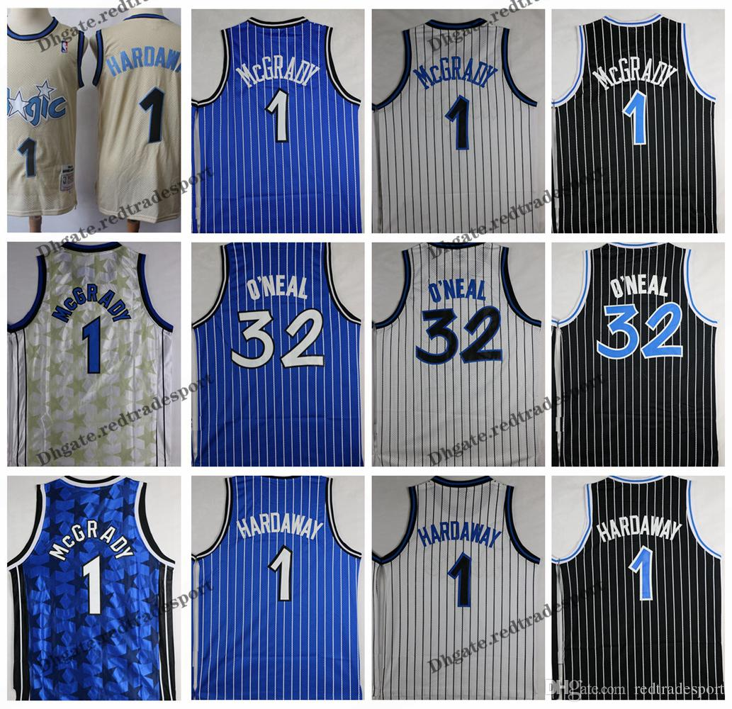 new arrival 6deb0 0325e Vintage Mens Orlando O'Neal Magics 32 Basketball Jerseys Shaquille O Neal  Shaquille O'Neal Penny Hardaway Tracy McGrady Stitched Shirt S-XXL