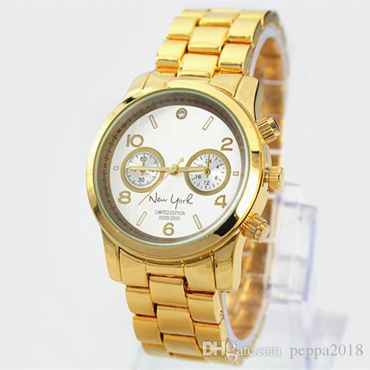2019 Venta Caliente Moda dama reloj de moda las mujeres de oro rosa oro relojes de lujo Relojes de pulsera Marca reloj de mesa femenino Relojes De