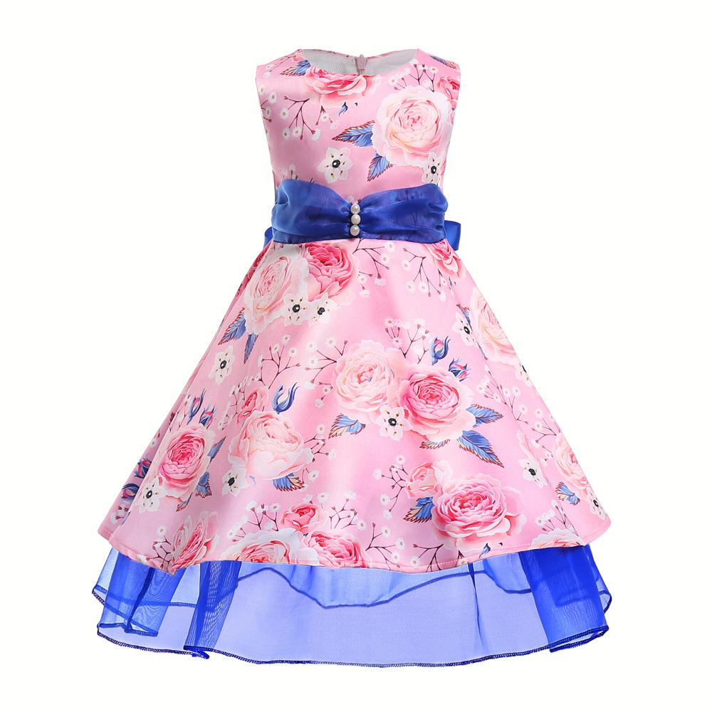 4bbb57b1f3a 2019 Flower Girls Dress For Wedding Kids Pageant Party Bridesmaid Ball Gown  Prom Princess Infant Dresses Formal Occasion Kids Clothes From Ebaby0964