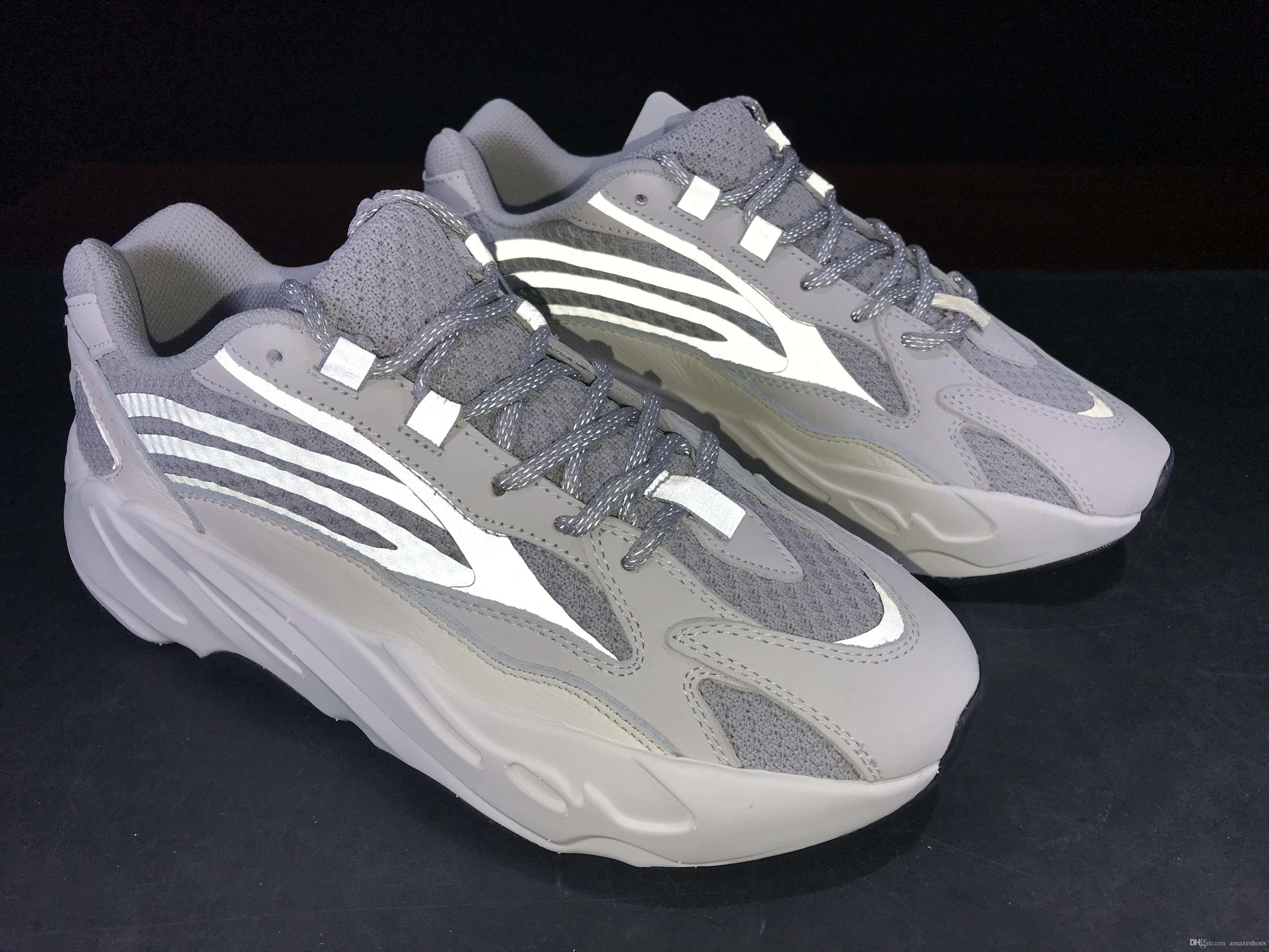 first rate 12417 4814a 2019 Adidas Yeezy Kanye West 700 V2 Static EF2829 Wave Runner Running Shoes  700s Sports Sneakers Mauve Solid Grey Luxury Designer Shoes Size 36 46 Por  ...
