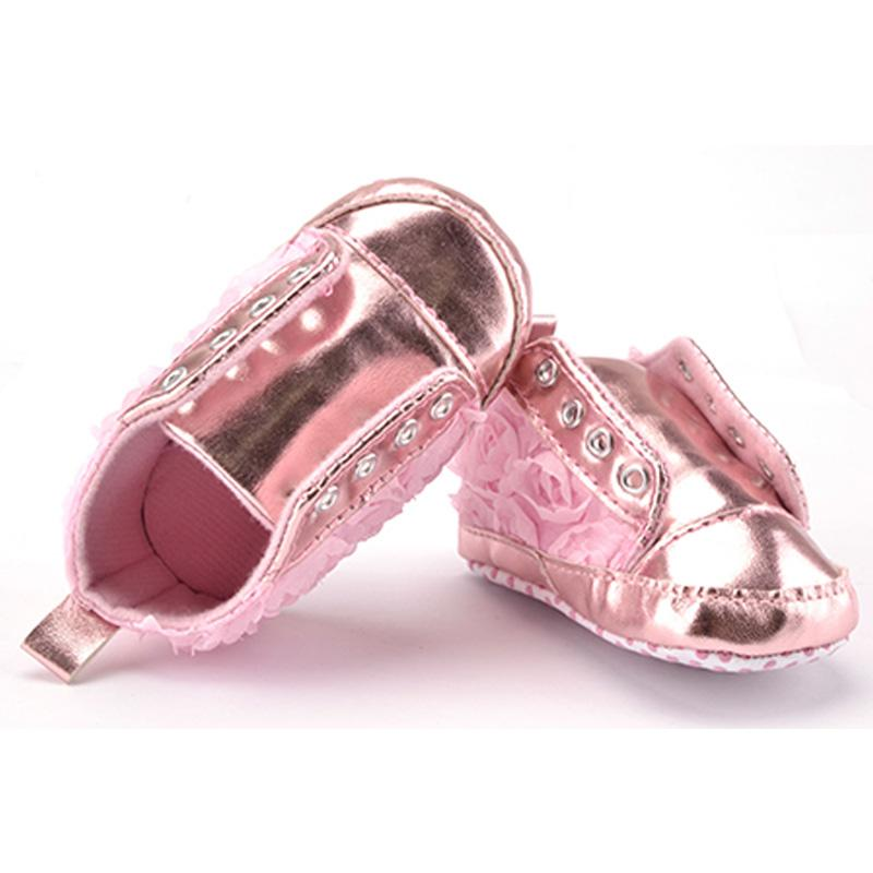 3e2d7354147c 2019 Newborn Bling PU Leather Slip On Baby Girl Shoes Spring Autumn Pink  Rose Fringe Soft Soled Kids Crib Girls First Walkers Shoes From  Breadfruiter