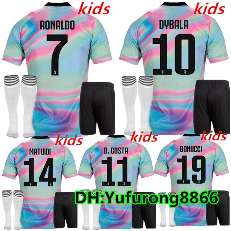 info for 1cca1 3b734 kids kit 18 19 EA Sports digital INSANE JUVENTUS SOCCER JERSEYS ronaldo  dybala MANDZUKIC 2019 fourth Outstanding child boys football shirts