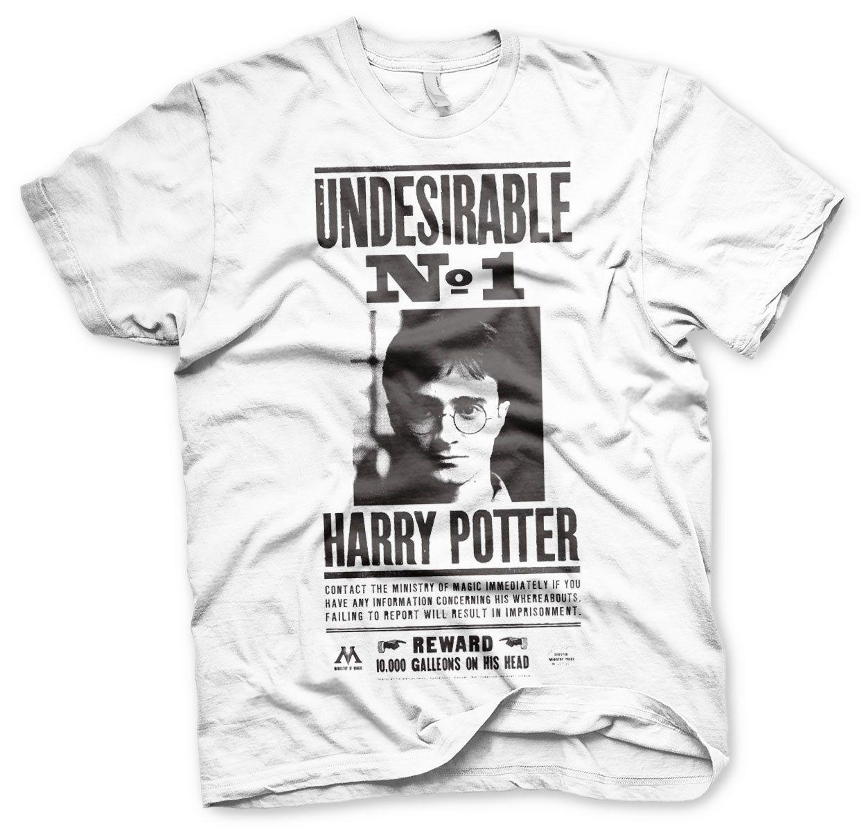 9c4de2155 Official Licensed Harry Potter Wanted Poster Men's T-Shirt S-XXL Sizes  (White)