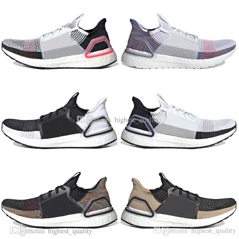 acheter populaire 952fd 0287d Solde 2019 Ultra Boost 19 Laser Red Refract Oreo Chaussures de course pour  homme Femme UltraBoost 5.0 Blanc Noir Sport Sneakers