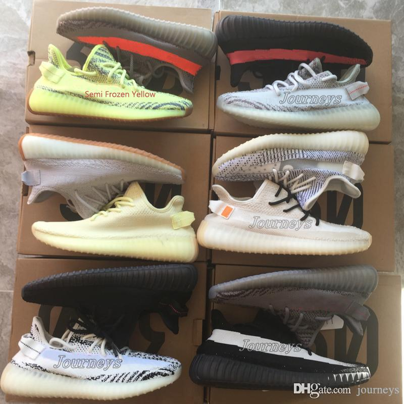 5b9d88bcc Best Quality 350 V2 Men Shoes With Box Sesame Static Butter Men Running  Shoes Cream White 2019 Women Sport Designer Sneakers Canada 2019 From  Journeys