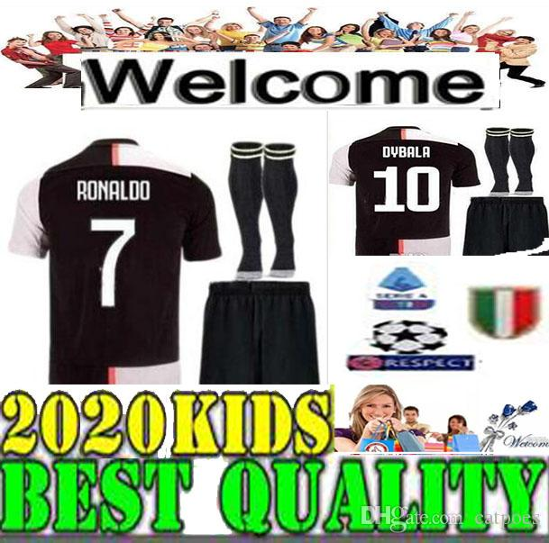 huge selection of 058ac 98006 #7 RONALDO 2019 Juventus Kids Soccer Jerseys Home Set #4 FABREGAS 2019 2020  #33 BERNARDESCHI #10 DYBALA Boys Football Kit children s uniform